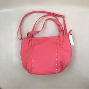 NWT Beautiful coral shoulder purse